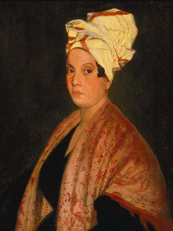 A 1920 painting of Marie Laveau by Frank Schneider based on an 1835 painting