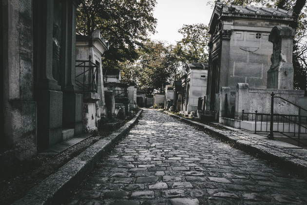 Père Lachaise Cemetery in Paris, France, has 14 bat figures hidden in various places throughout the grounds and some believe the grave the original Dracula was transported to is located here