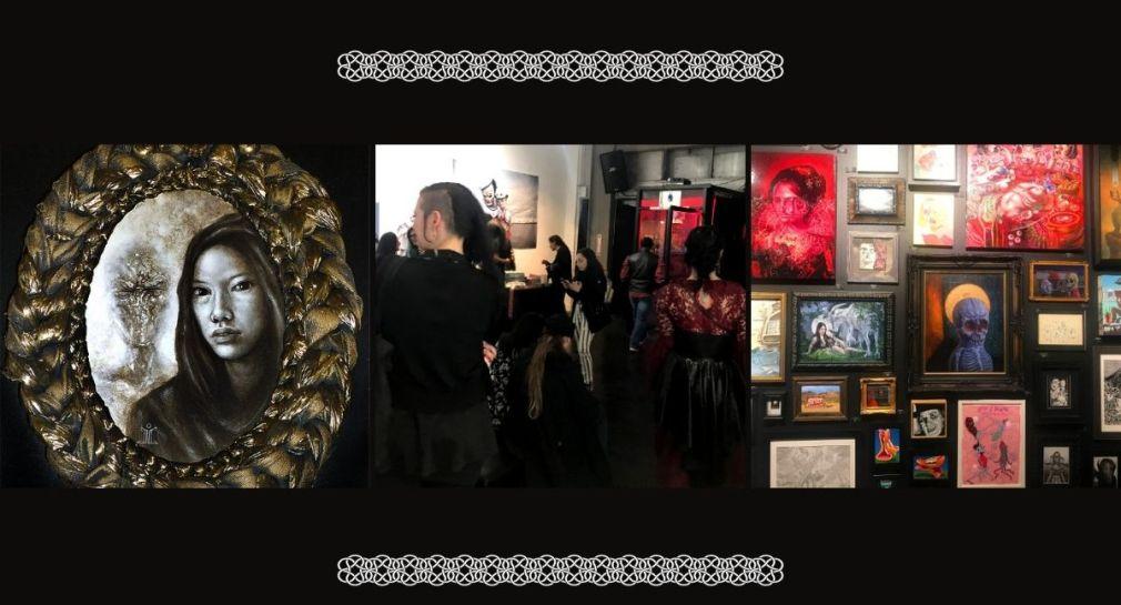 Dark art galleries in Los Angeles, California