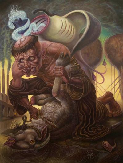 """""""Poor Worm, Though Art Infected"""" dark art by David Van Gough"""
