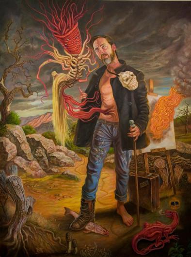 """What's Dark Within, Illuminate"" dark art by David Van Gough"