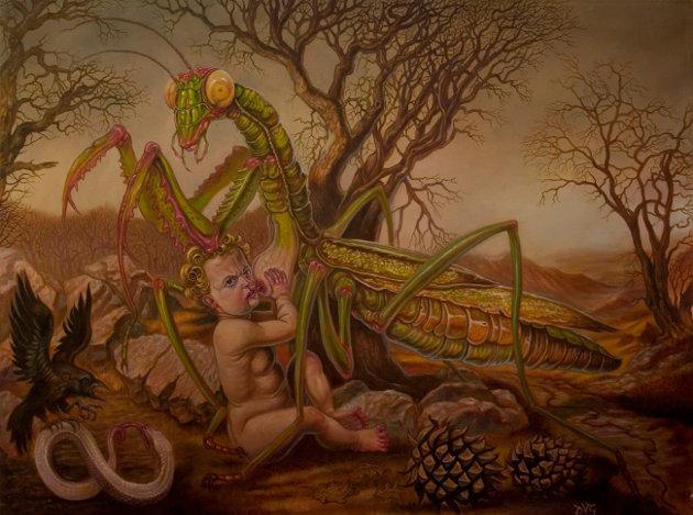 """Where Death and Nature Breeds"" dark art by David Van Gough"