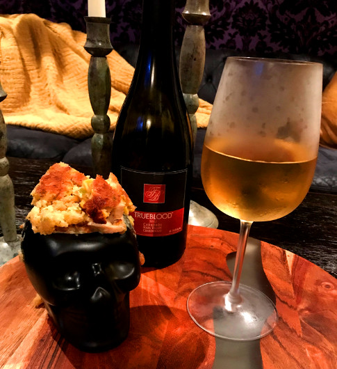 True Blood 2012 Chardonnay with Beetle House's Love It Pot Pie